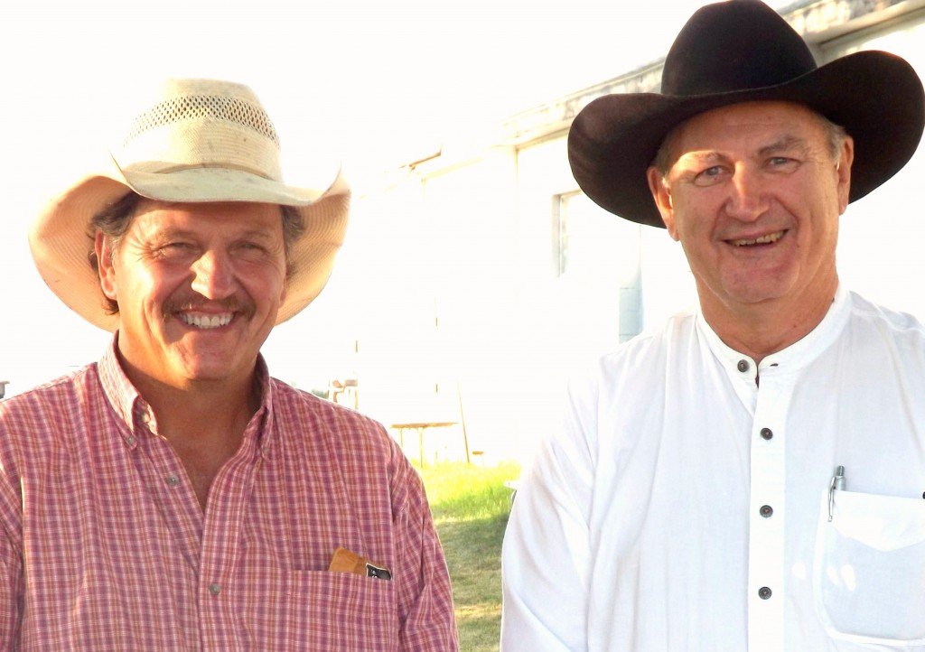 "Pastor Dave and the cowboy behind the song ""SADDLE UP IT'S TIME FOR COWBOY CHURCH""  Mr Brooke Turner"